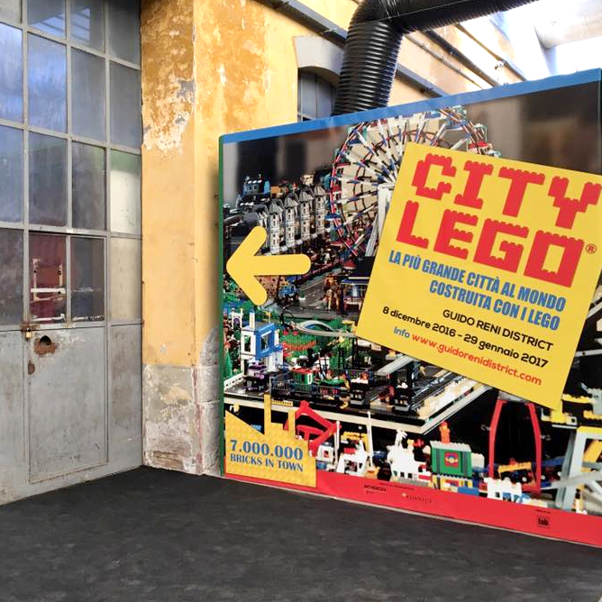 Ciity Lego Mostra Roma per bambini Guido Reni District